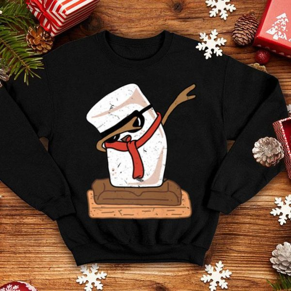 Pretty Funny Dabbing Marshmallows S'mores Day Christmas shirt