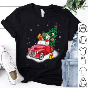 Pretty Husky Rides Red Truck Christmas Tree Xmas Gifts shirt