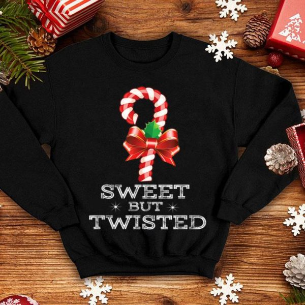 Pretty Sweet But Twisted Funny Candy Cane Christmas Xmas Pajama shirt