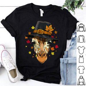 Pretty Thanksgiving Giraffe Pilgrim Costume Men Women shirt