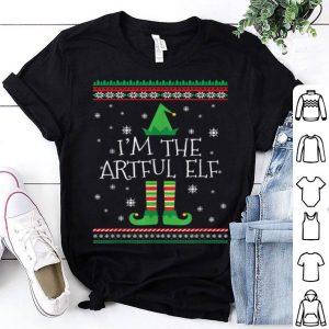 Top I'm The Artful Elf Ugly Christmas PJ shirt