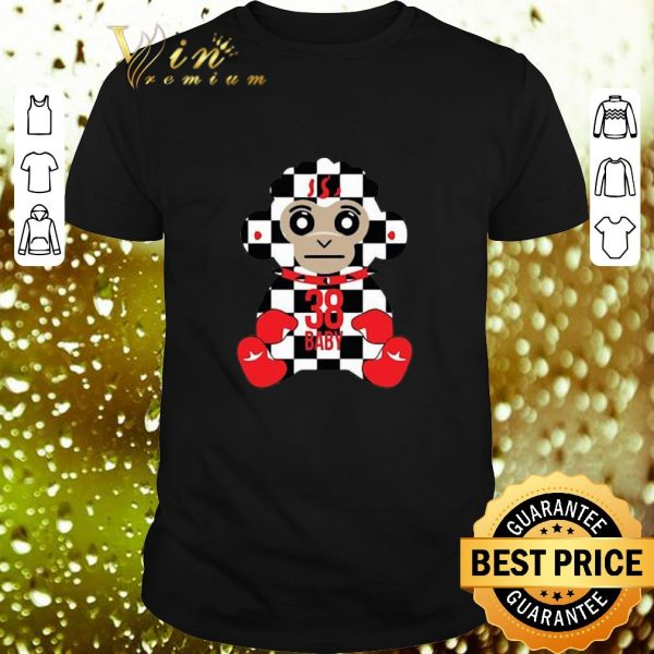 Top Never Broke Again 38 Baby Monkey Checkers shirt