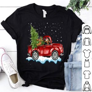 Awesome Dachshund Dog Pickup Truck Christmas sweater