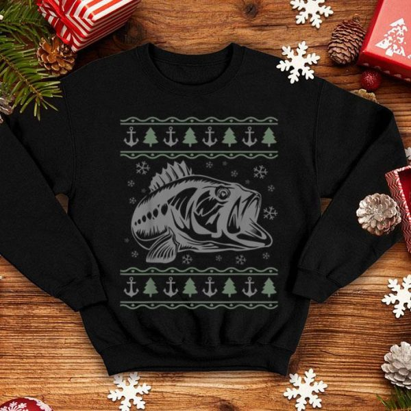 Awesome Fisherman's Ugly Christmas Sweater Style Fishing Bass sweater