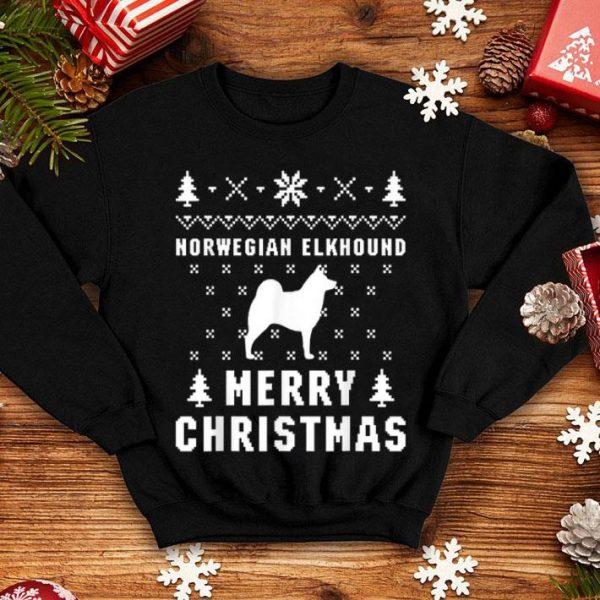 Nice NORWEGIAN ELKHOUND Funny Ugly Christmas sweater