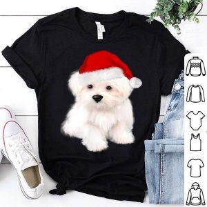 Official Christmas puppy gift idea.Cute Santa bolognese ,maltese dog sweater
