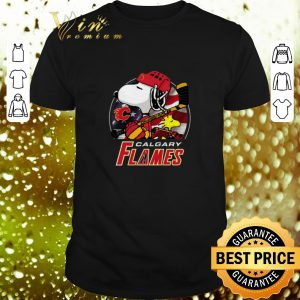 Original Calgary Flames Ice Hockey Snoopy and Woodstock shirt