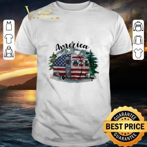 Original Camping Independence day 4th of July America flag shirt
