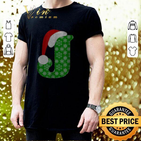 Original Christmas Santa Hat Monogram Letter J Holiday Gift shirt