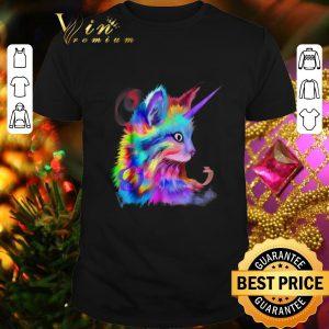Original Colorful Cute Rainbow Kitten Unicorn Cat shirt