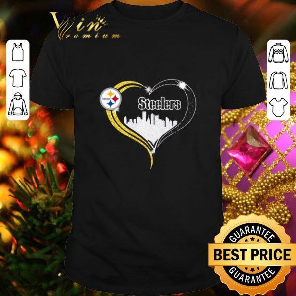 Original Diamond Love Pittsburgh Steelers city heart shirt
