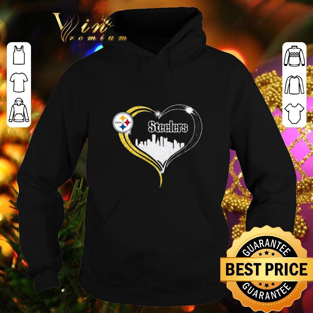 Original Diamond Love Pittsburgh Steelers city heart shirt 4 - Original Diamond Love Pittsburgh Steelers city heart shirt