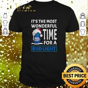 Original It's the most wonderful time for a Bud Light Christmas shirt