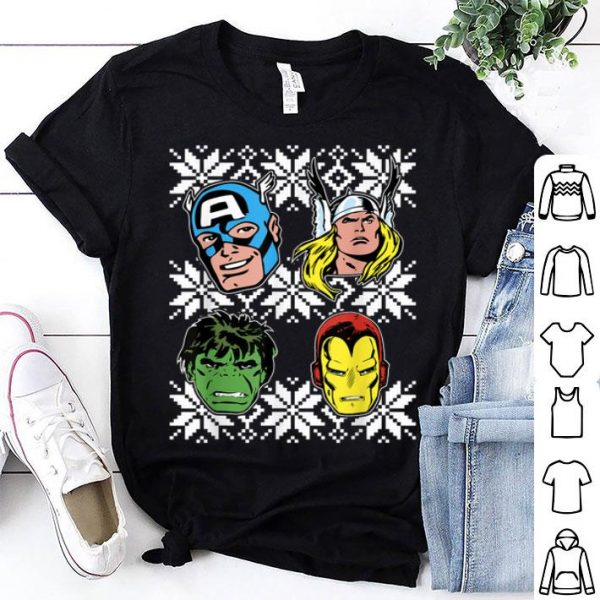 Original Marvel Thor Hulk Iron Man Retro Sweater Christmas sweater