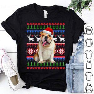 Original Santa English Bulldog Christmas Light Ugly Christmas sweater