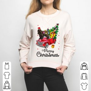 Premium English Cocker Spaniel Rides Truck Christmas Pajama sweater