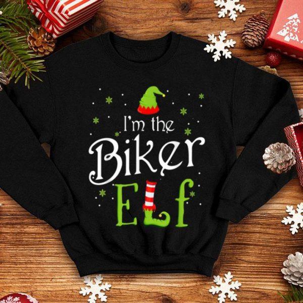 Premium I'm The Biker Elf Christmas Gift Idea Xmas Family sweater