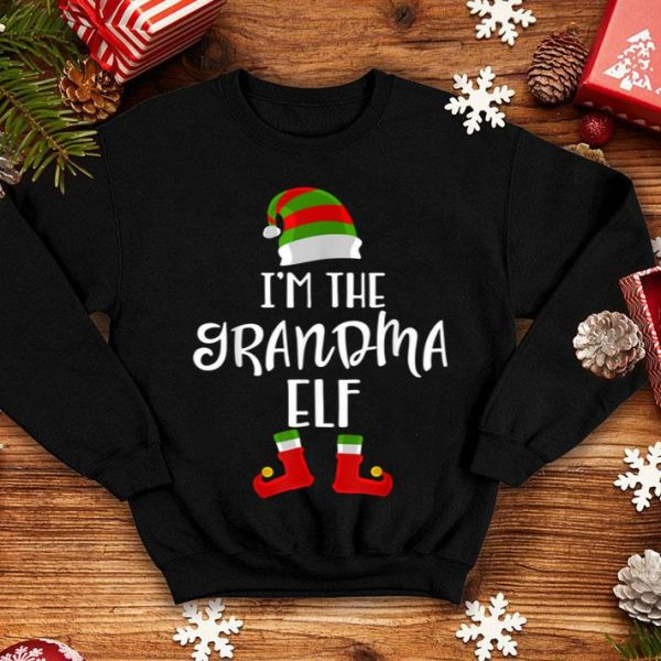 Premium Im The Grandma Elf Funny Matching Family Group Christmas sweater