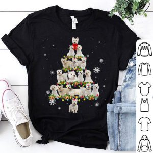 Pretty West Highland White Terrier Christmas Tree Lights Funny Xmas sweater
