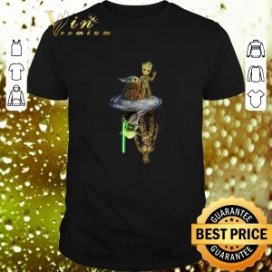 Top Baby Yoda Groot reflection water Yoda Jedi Master Mandalorian shirt