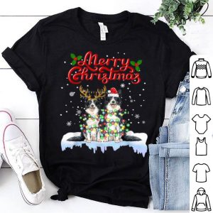Top Border Collie Christmas Lights Funny Dog Matching Family sweater