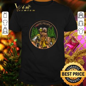 Top Camping bear beer i hate people campfire shirt
