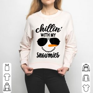 Top Chillin With My Snowmies Snowman Christmas sweater