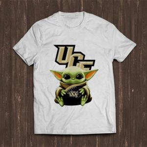 Top Football Star Wars Baby Yoda Hug UCF shirt