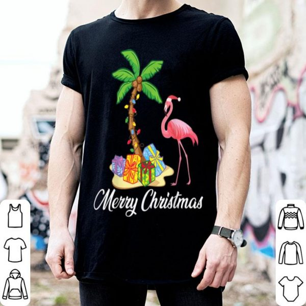 Top Funny Flamingo Merry Christmas Costume Palm Tree Gifts sweater