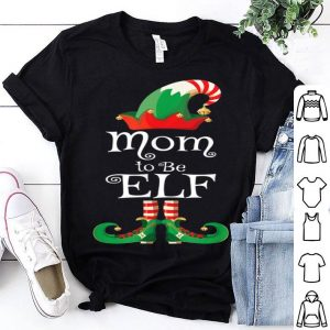 Top Mom to Be Elf Women Matching Elf Christmas Pregnancy sweater