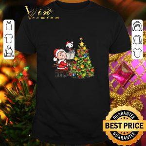 Top Peanuts Snoopy Charlie Brown Christmas tree shirt