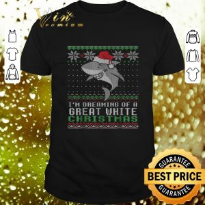 Top Shark Santa I'm dreaming of a great White Christmas sweater