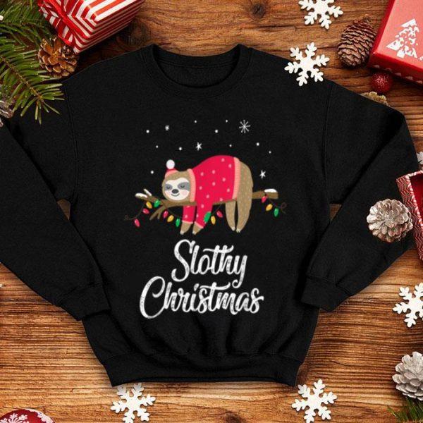 Top Slothy Christmas Cute Sloth Christmas Gift sweater