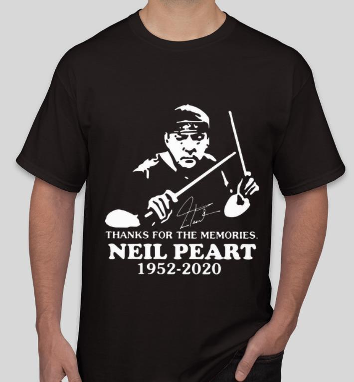 Hot Neil Peart 1952 2020 Thanks For The Memories Signature shirt 4 - Hot Neil Peart 1952 2020 Thanks For The Memories Signature shirt