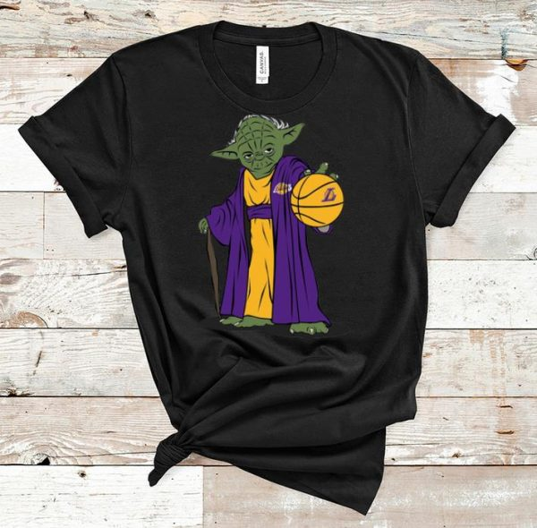 Nice Master Yoda Basketball Los Angeles Lakers shirt