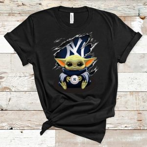 Nice Star Wars Baby Yoda Blood Inside New York Yankees shirt