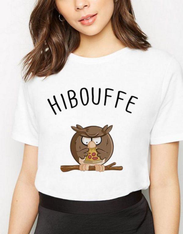 Official Hibouffe Owl Bird Pizza shirt