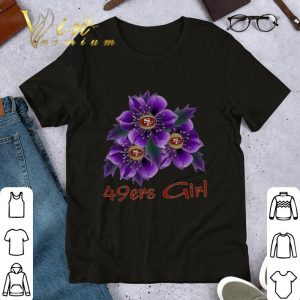 Official San Francisco 49ers Girl purple flowers shirt