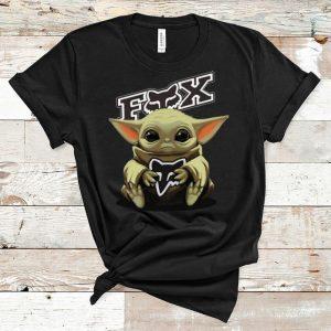 Premium Star Wars Baby Yoda Hug Fox Racing shirt