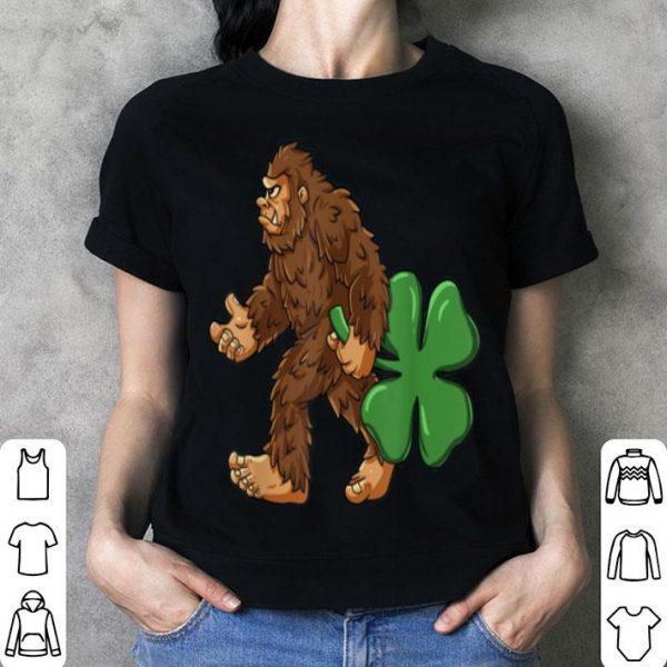 Awesome Bigfoot Shamrock St Patricks Day Boys Kids Sasquatch shirt