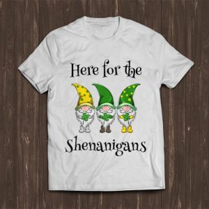 Awesome Gnome Shamrock Here For The Shenanigans St. Patrick's Day shirt