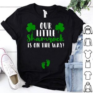Beautiful Matching Couple Pregnancy Announcement St Patricks Day shirt