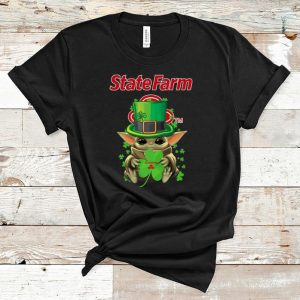 Great Star Wars Baby Yoda State Farm Shamrock St.Patrick's Day shirt