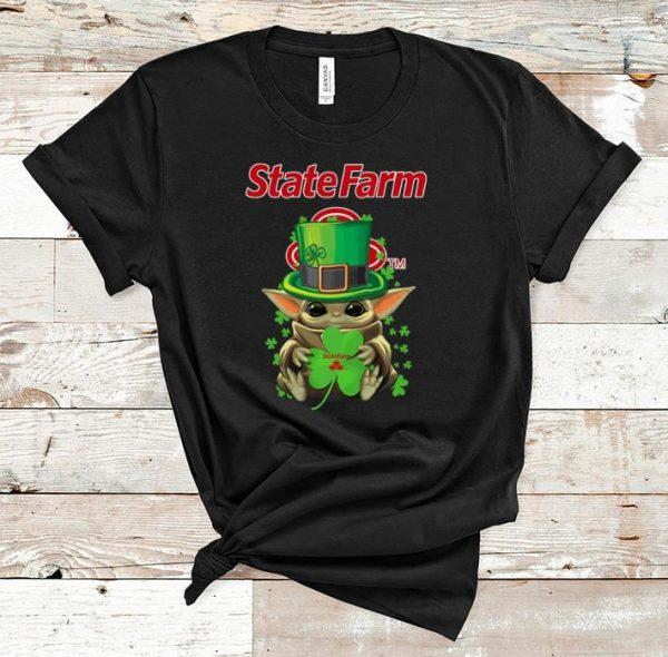 Great Star Wars Baby Yoda State Farm Shamrock St.Patrick's Day shirt