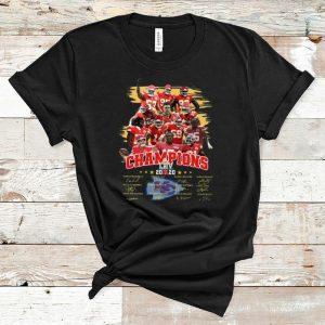 Hot Kansas City Chiefs Super Bowl LIIV Champions signatures shirt