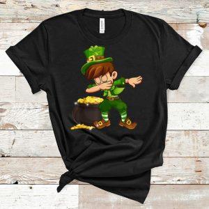 Nice Shamrock Dabbing Boys Leprechaun St. Patrick's Day shirt
