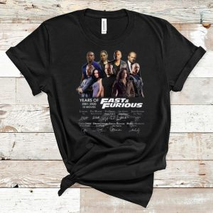 Nice Years of Fast And Furious signatures shirt