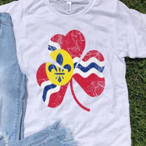 Official St Louis Flag Shamrock Irish St Patricks Day Gift shirt