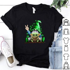 Original Gnome hug Baby Yoda Irish St. Patrick's day shirt