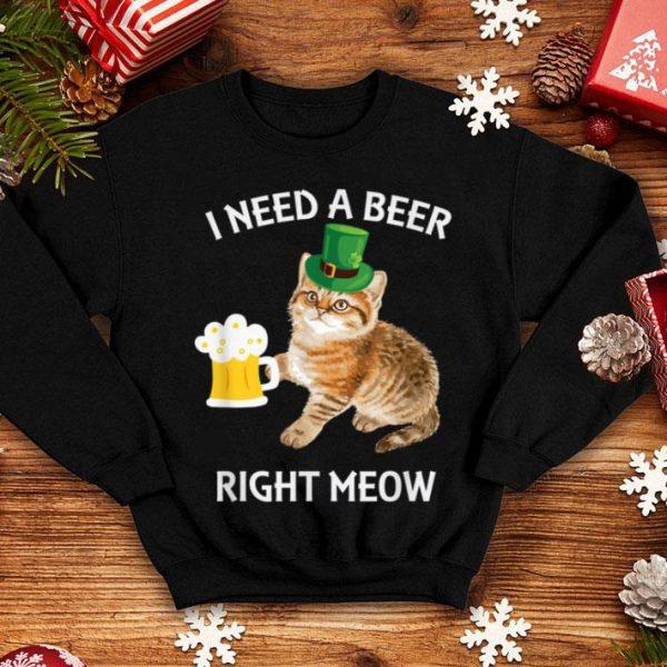 Original Irish Beer Cat St Patricks Day Drinking Gift shirt